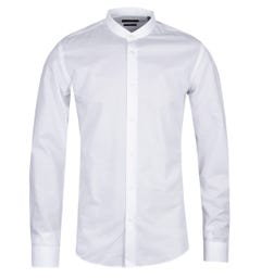 BOSS Jordi Slim Fit White Grandad Shirt