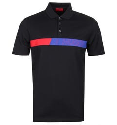 HUGO Dantes Black Polo Shirt
