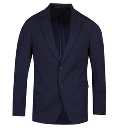 BOSS Nobis Seersucker Slim Fit Navy Jacket