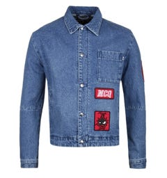 McQ Alexander McQueen Blue Denim Jacket