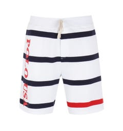 Polo Ralph Lauren Navy Stripe White Sweat Shorts