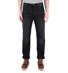 Emporio Armani J21 Black Tonal Stitch Regular Fit Jeans