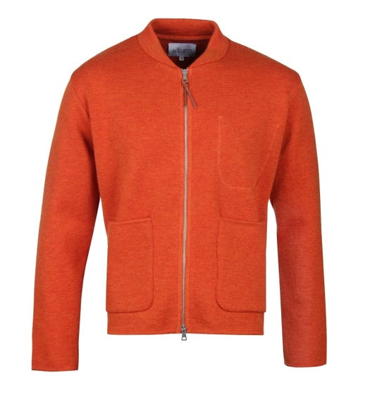 Albam Milano Burnt Orange Bomber Sweater