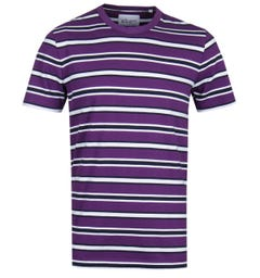 Albam Bernard Purple Stripe T-Shirt