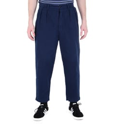 Albam Navy Pleated Trousers