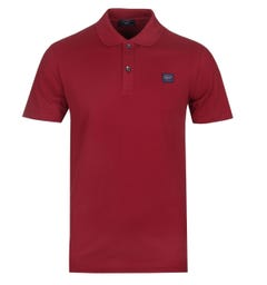 Paul & Shark Logo Burgundy Polo Shirt