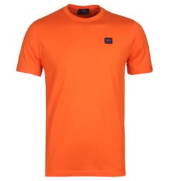 Paul & Shark Orange Logo Patch T-Shirt
