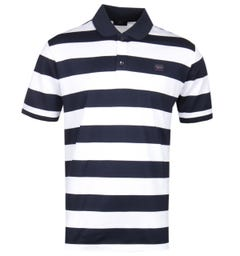 Paul & Shark Navy & White Hoop Polo Shirt