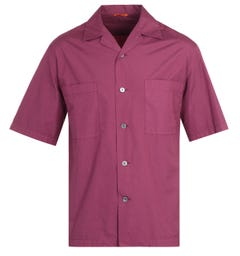 Barena Solona Cuban Collar Burgundy Shirt