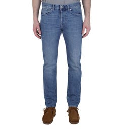 Edwin ED-80 Kingston Blue Denim Rauha Wash Slim Tapered Jeans