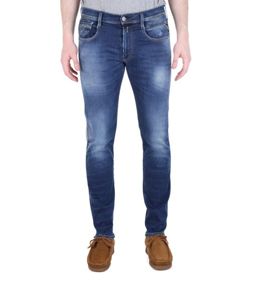 Replay Anbass Hyperflex Blue Wash Skinny Fit Jeans
