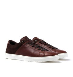 Barbour Ariel Brown Leather & Suede Trainers