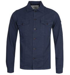 Portuguese Flannel Champ Navy Overshirt