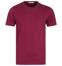 Nudie Jeans Burgundy Kurt Worker T-Shirt