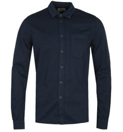 Nudie Jeans Co Henry Navy Pigment Dyed Long Sleeve Shirt
