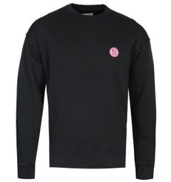 Nudie Jean Co Lukas Badge Black Sweatshirt
