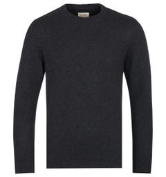 Nudie Jeans Co Hampus Crew Neck Black Knitted Sweater