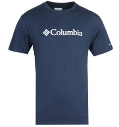 Columbia Basic Logo Short Sleeve Navy T-Shirt