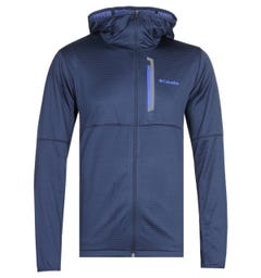 Columbia Tech Trail Hooded Sweatshirt - Navy