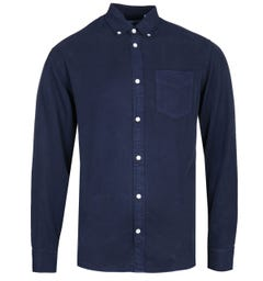 NN07 Levon 5969 Button-Down Navy Long Sleeve Shirt