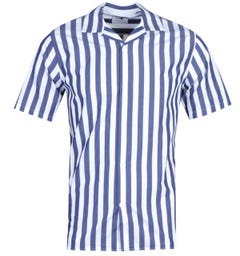 NN07 5203 Miyagi Short Sleeve Navy Striped Shirt