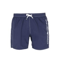 Emporio Armani Side Logo Navy Blue Swim Shorts