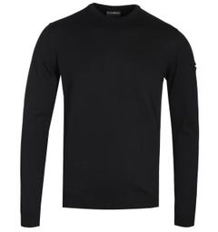 Emporio Armani Arm Logo Black Sweater