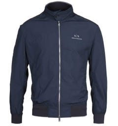 Armani Exchange Seersucker Lightweight Navy Jacket