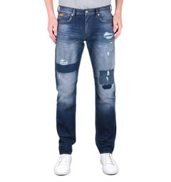 Armani Exchange J13 Slim Fit Distress Detail Blue Wash Denim Jeans