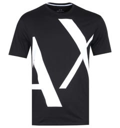 Armani Exchange AX Big Logo Black T-Shirt