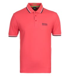 BOSS Paddy Pro Open Red Short Sleeve Polo Shirt