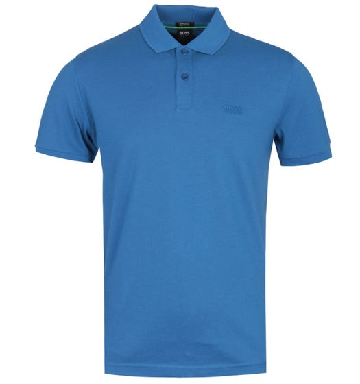 BOSS Piro Bright Blue Short Sleeve Polo Shirt