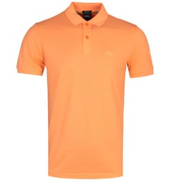 BOSS Piro Bright Orange Short Sleeve Polo Shirt