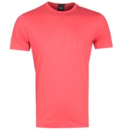 BOSS Teebo Open Red Short Sleeve T-Shirt