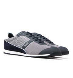 BOSS Glaze Mesh Navy & Grey Trainers