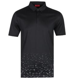 HUGO Duhr Starman Short Sleeve Black Polo Shirt