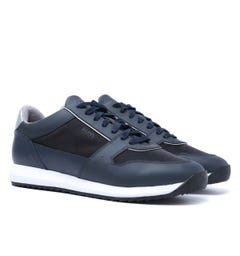 BOSS Sonic Run Navy Mesh Trainers