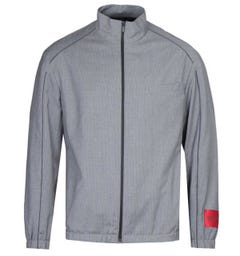 HUGO Uris 2021 Pinstripe Open Grey Bomber Jacket