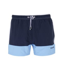 BOSS Bodywear Filefish Cut & Sew Navy, Blue & White Swim Shorts