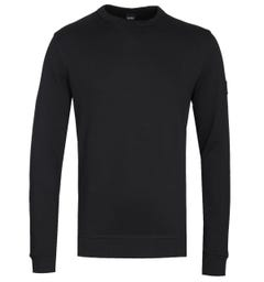 BOSS Walkup Black Crew Neck Sweatshirt