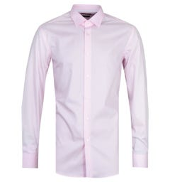 BOSS Jessy Slim Fit Pink Long Sleeve Shirt