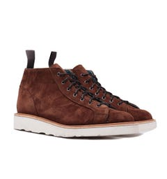 Tricker's Ethan Ridge Kudu Reverse Suede Lace Up Boots