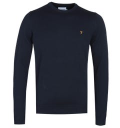 Farah Mullen True Navy Knitted Sweater