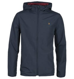Farah Strode Lightweight Navy Hooded Jacket