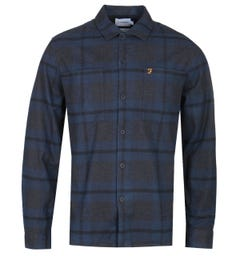Farah Ramona Flannel Check Dark Navy Overshirt