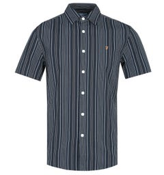 Farah Galena Striped True Navy Short Sleeve Shirt