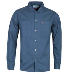 Farah Dallam Regular Fit Navy Overshirt