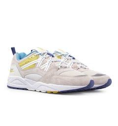 Karhu Fusion 2.0 Rainy Day Grey & Antique Moss Suede Trainers