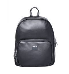 Replay Black Faux Leather Black Backpack