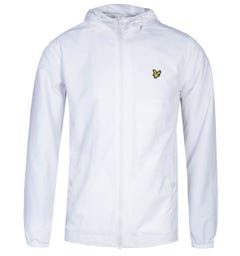 Lyle & Scott White Zip Through Hooded Jacket